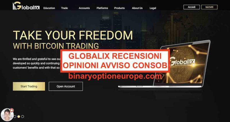 Globalix opinioni recensioni truffa Trading Bitcoin