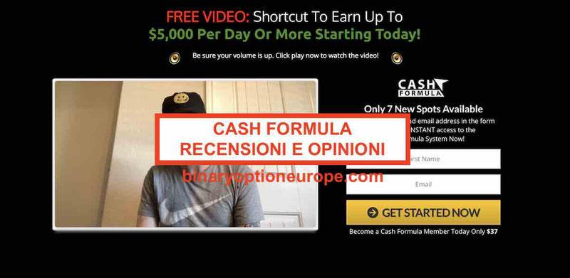 Cash Formula recensioni opinioni truffa o funziona