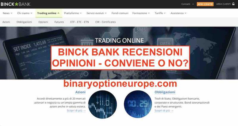 Binck Bank Trading recensioni e opinioni negative Alternative