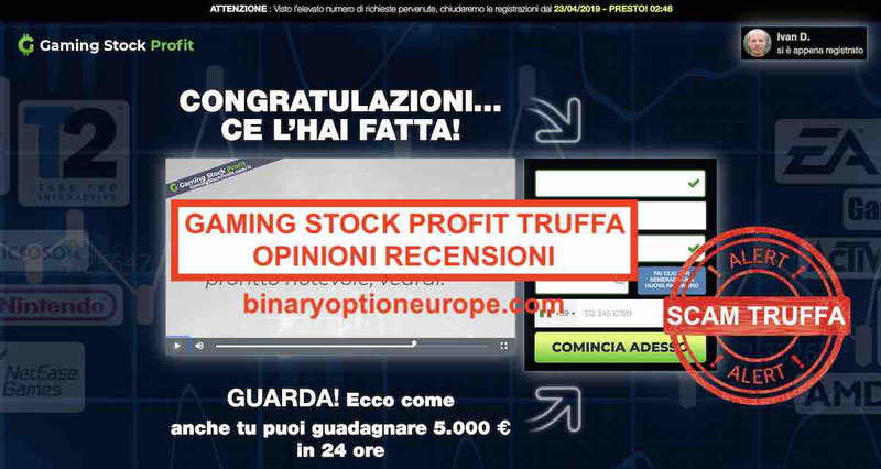 Gaming Stock Profittruffa o funziona Recensioni opinioni italiani