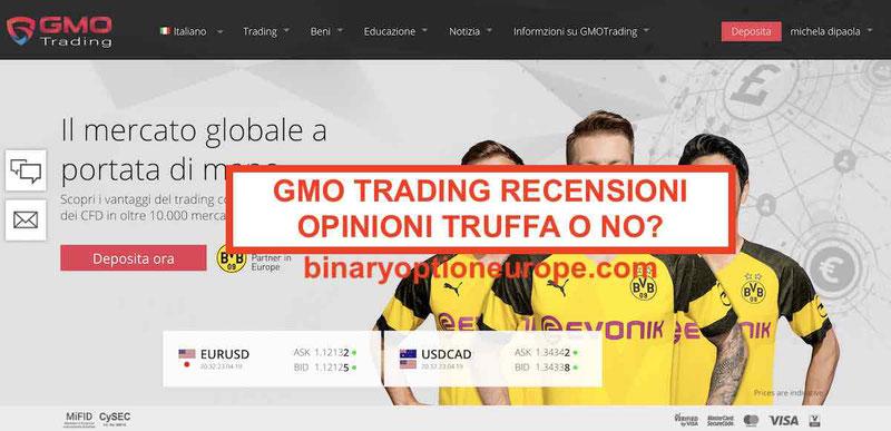 GMO Trading recensioni opinioni negative truffa gmotrading.com Forum