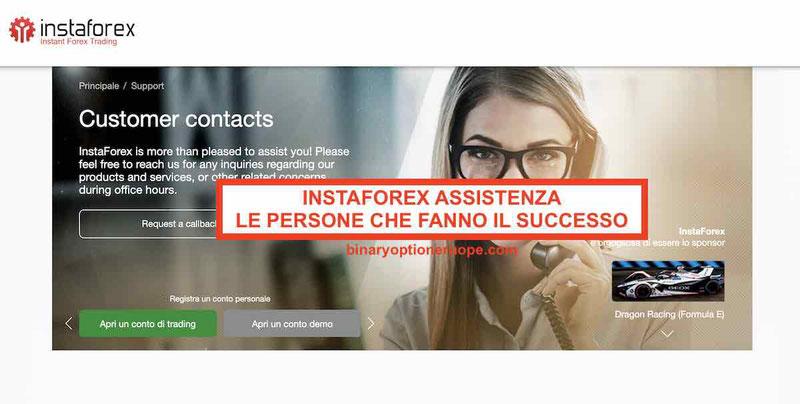 Instaforexassistenza clienti: persone dietro al successo del broker