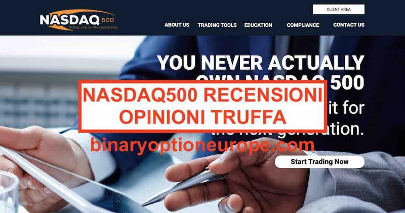 Nasdaq 500 recensioni opinioni - Nasdaq500.com truffa? [2019]