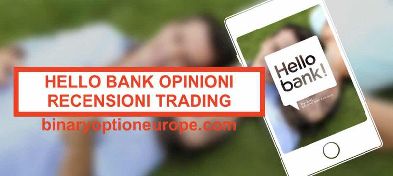 Hello Bank opinioni recensioni: conti, carte, trading online