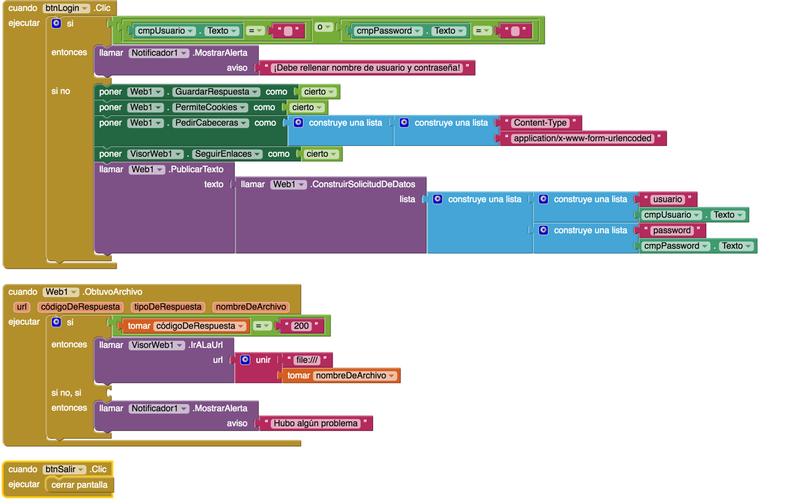 El componente web en App Inventor - Tu App Inventor