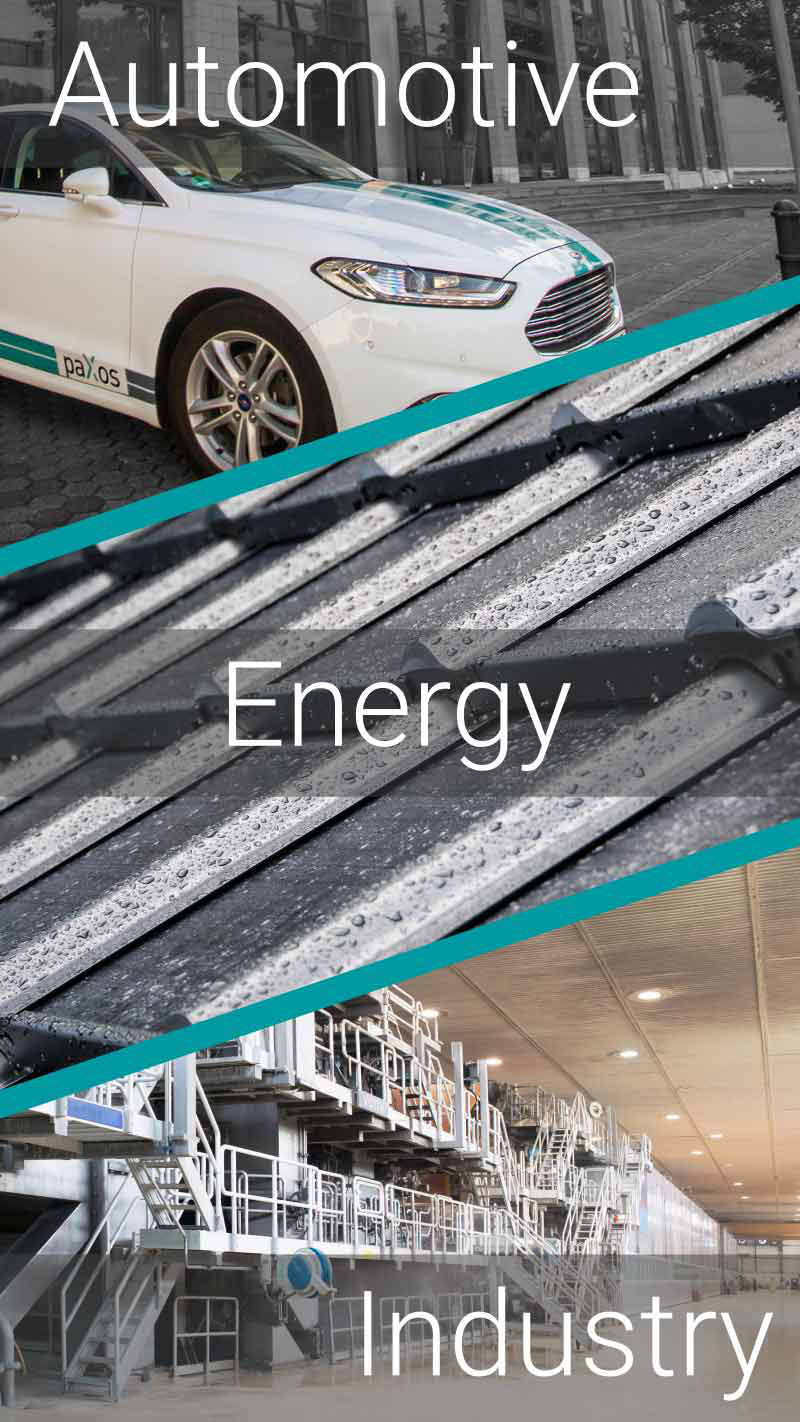 paXos Branches: Automotive, Energy and Industry