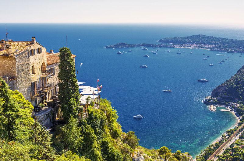 Die glamourösen Städte der Côte d'Azur wie Monaco, Cannes und Nizza