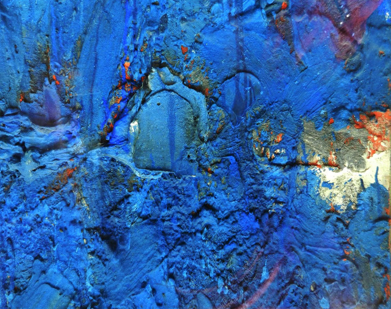 Blue on the wall abstract