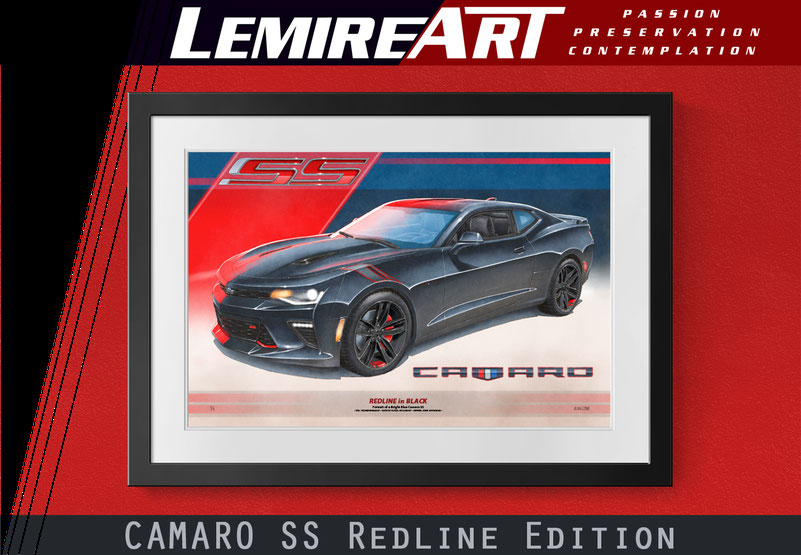 Camaro SS Redline Edition drawn portrait