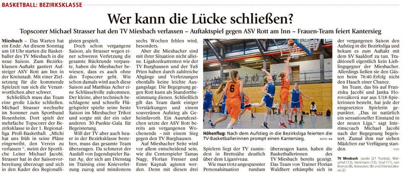 Artikel im Miesbacher Merkur am 7.10.17 - Zum Vergrößern klicken