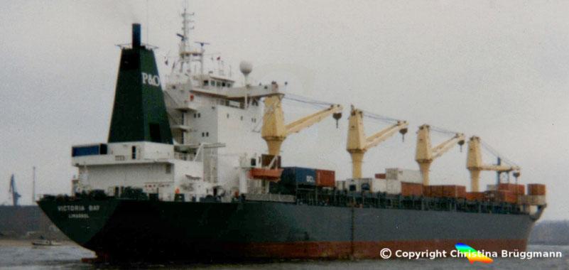 Mehrzweckfrachter VICTORIA BAY, Hamburger Hafen 1989