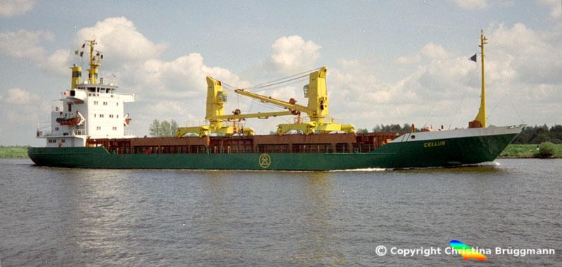 CELLUS, Sietas Typ 83, Nord-Ostsee Kanal 1989