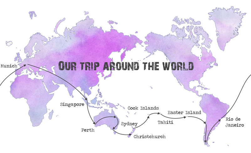 Our route around the world