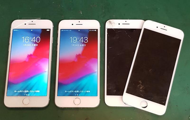 iPhone修理仕上り確認