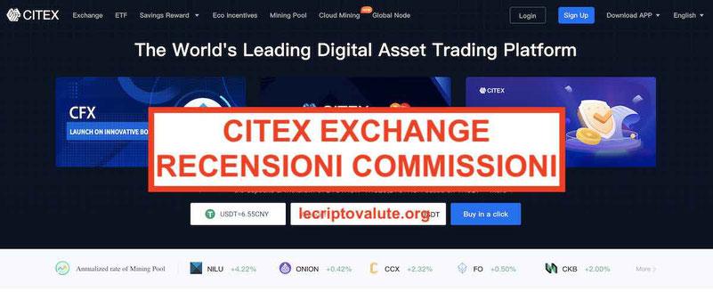 CITEX Exchange recensioni opinioni commissioni e alternative