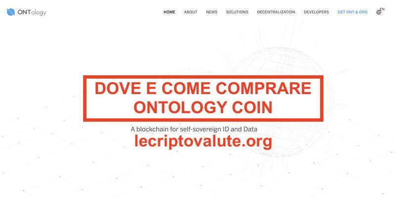 Dove e come comprare Ontology Coin (ONT) recensioni opinioni e previsioni