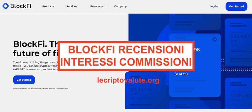 BlockFi recensioni opinioniinteressi e commissioni alternative