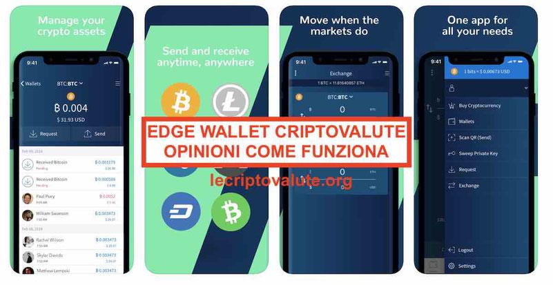 Edge mobile wallet recensioni opinioni come funziona guida italiano