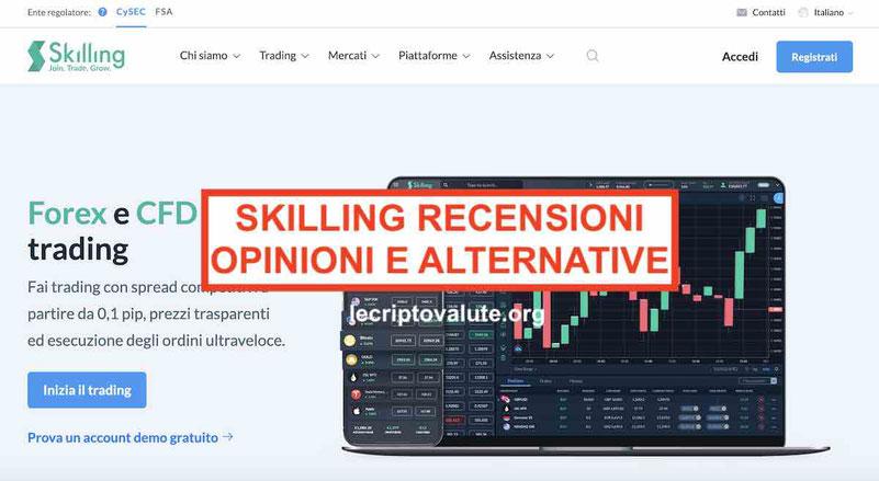 Skilling recensioni opinioni Commissioni e Alternative
