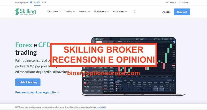 Skilling broker recensioni opinioni Commissioni Italia