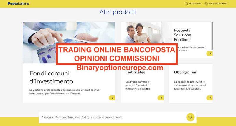 Trading online BancoPosta opinioni come funziona o no: recensioni