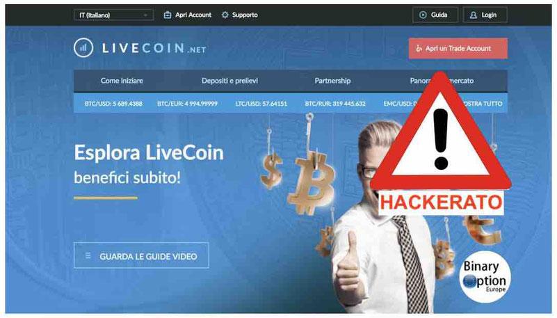livecoin opinioni recensioni exchange borsa truffa o funziona hacker attacco