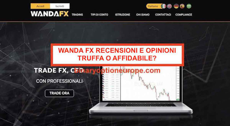WandaFX recensioni e opinioni truffa o funziona? Broker affidabile