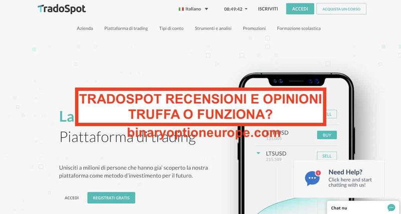 TradoSpot recensioni opinioni truffa – 5 cose che dovresti sapere