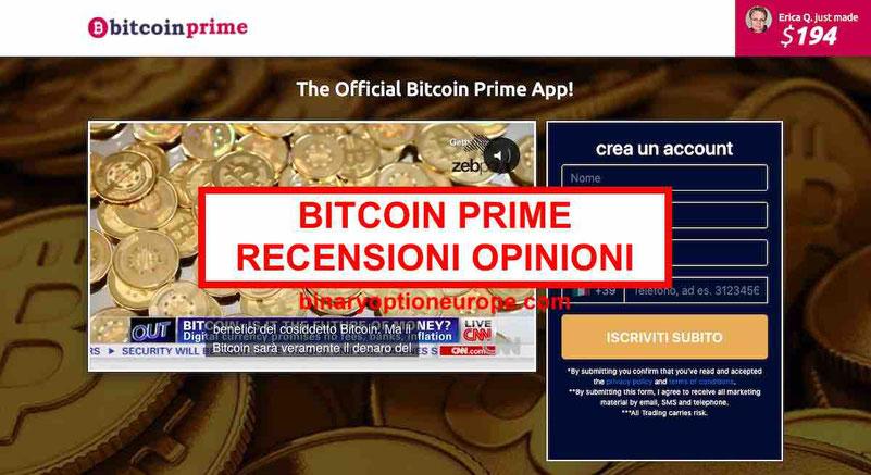 Bitcoin Prime recensioni opinioni truffa o funziona