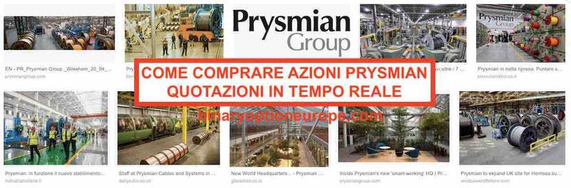 Come comprare azioni Prysmian in tempo reale grafico forum Italia