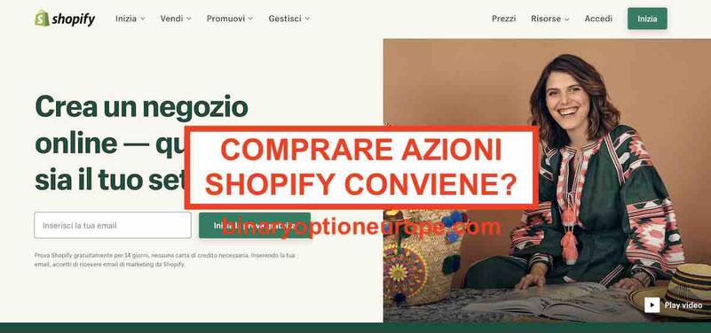 Dove e come comprare azioni Shopify Previsioni grafico