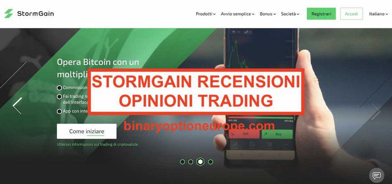 StormGain recensioni opinioni commissioni e trading a margine