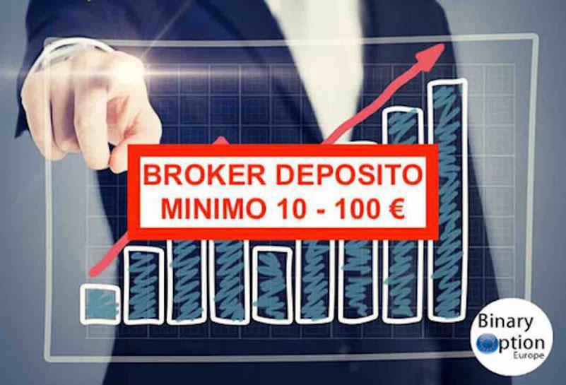 Broker deposito minimo 10 euro 50 euro opzioni cfd forex criptovalute