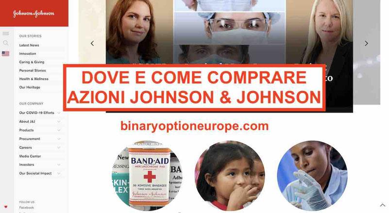 Dove e come comprare azioni Johnson & Johnson Previsioni e dividendi JNJ