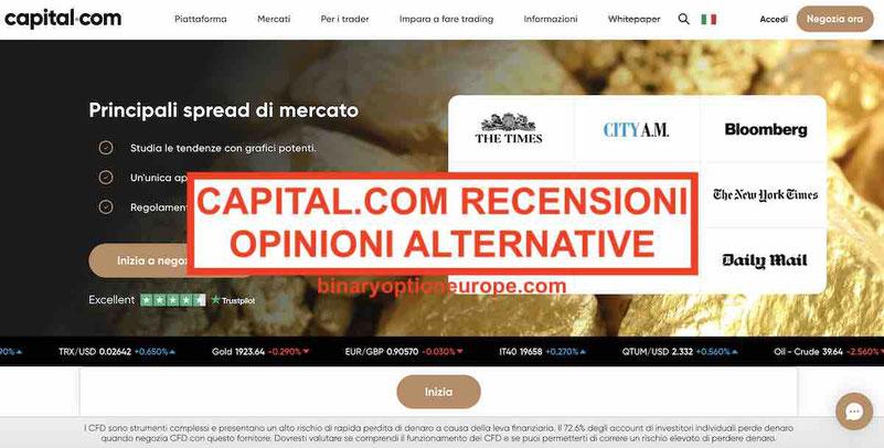 Capital.com recensioni opinioni Alternative CONSOB