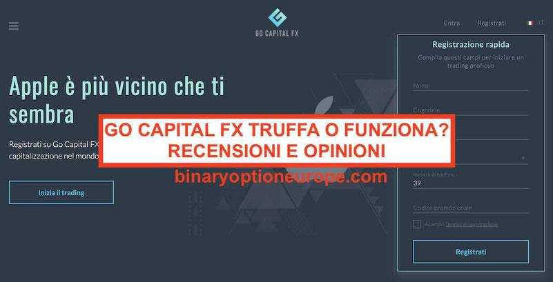 Go Capital FX recensioni opinioni truffa o funziona gocapitalfx.com