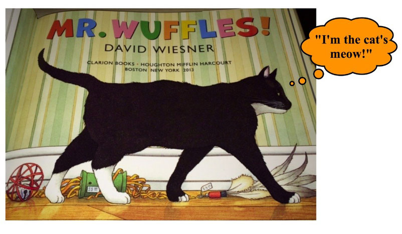 Mr. Wuffles is the cat's meow!