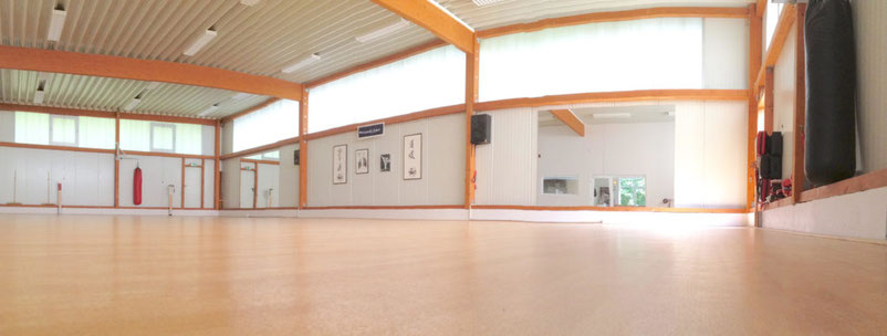 Die Trainingshalle des Karate-Dojo in Münster.