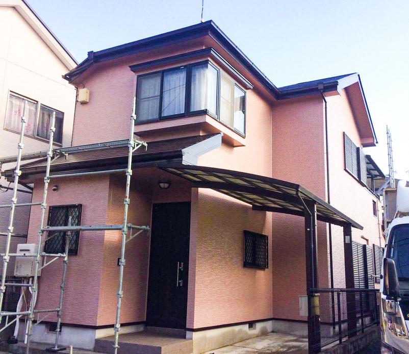 千葉市若葉区川戸町の屋根外壁の塗装工事 前