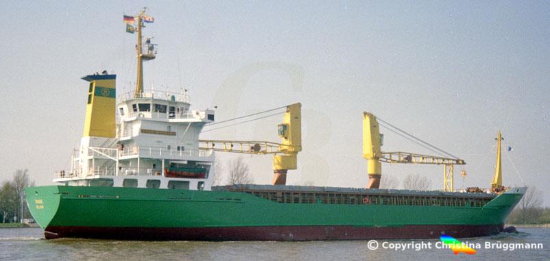 Mehrzweckfrachter TIMBUS, Nord-Ostsee Kanal 1990