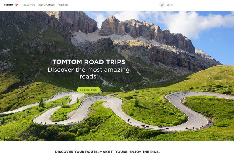 TomTom Road Trips Website