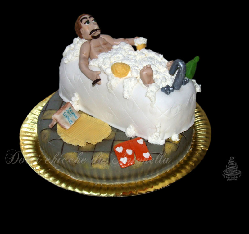 relax-bagno-vasca-torte-dolci-torta uomo-dolci-la spezia-liguria