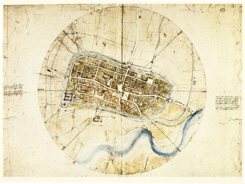 Leonardo Da Vinci, Cartina di Imola