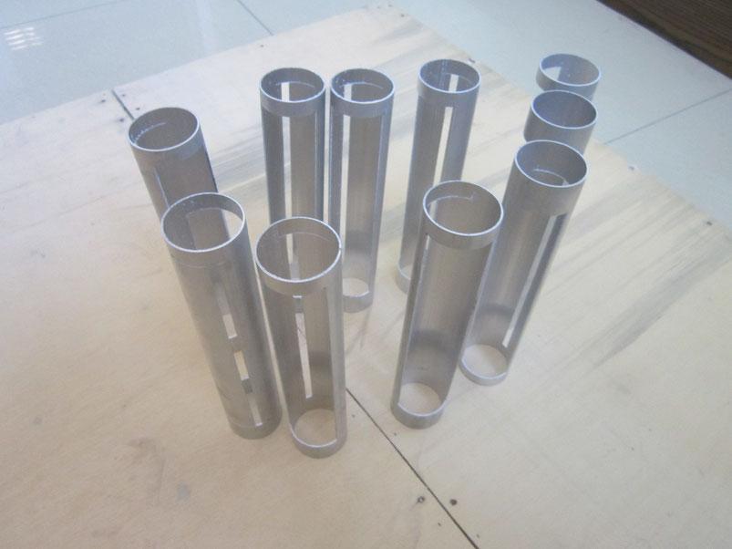 Aluminium tube laser cutting