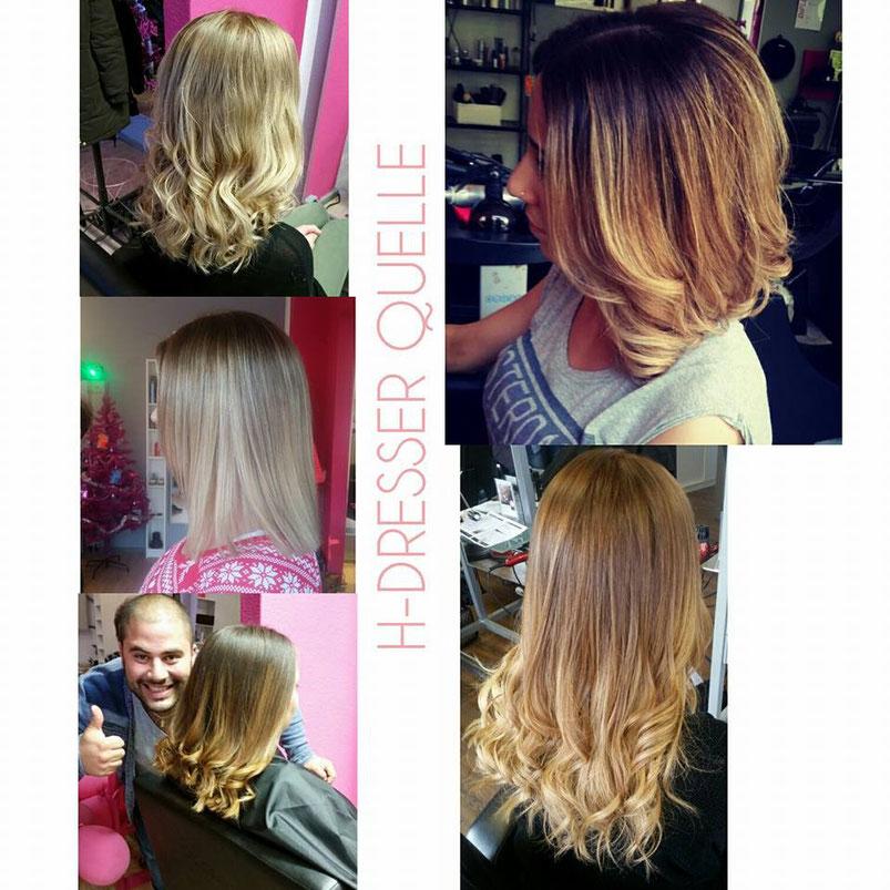 Balayage Ombre Blond Goldblond Kühles Blond creme haare beige haare