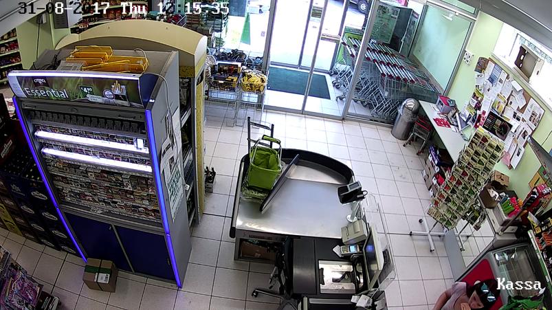 Videoüberwachung direkt bei Eingang - Abschreckung und Personenzählung