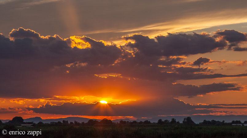 Camargue:....un tramonto da restare senza parole!
