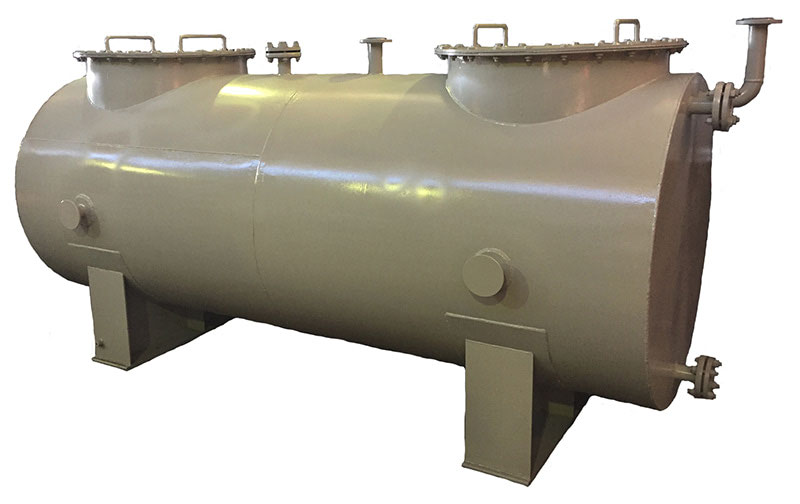 Емкость стальная горизонтальная (транспортировка)