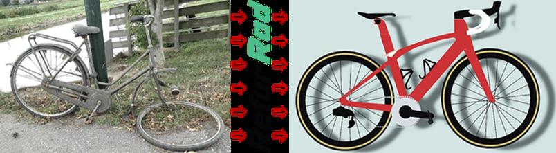 Wiederbelebung alter Fahrräder durch Refur Rad