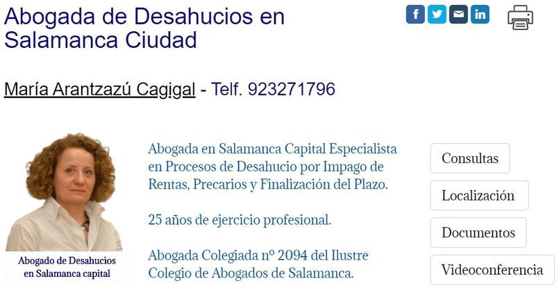 Abogada de Desahucios en Salamanca impago de rentas precarios expiraciones del plazo